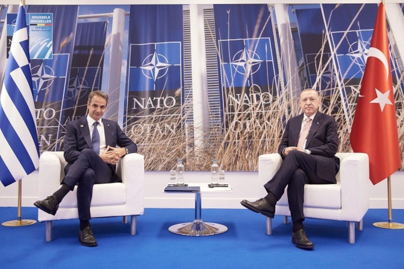 Greece Turkey Mitsotakis Erdogan