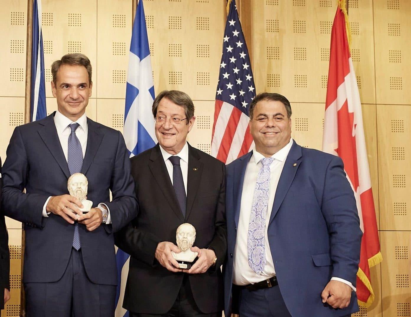 AHEPA award Mitsotakis Anastasiades